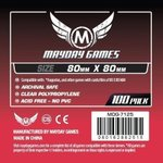Mayday Games 100 Hüllen: Medium Square Card Sleeves • 80 x 80mm