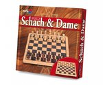 Schach & Dame Deluxe Holz