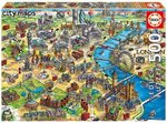 Puzzle London City Maps 500 Teile