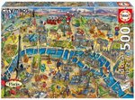 Puzzle Paris City Maps 500 Teile